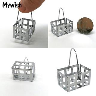 ⛄🌟Mini Metal Basket Model Dollhouse Doll Home 1:6 1:12 Gift