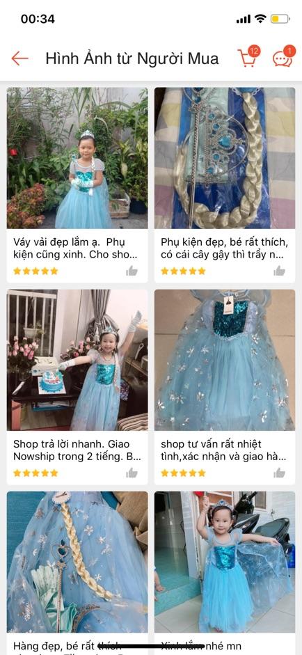 [SẴN - HÀNG LOẠI 1 TẶNG PHỤ KIỆN] Đầm Elsa dài váy Elsa bé gái công chúa hàng xịn