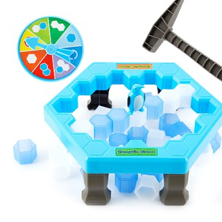 SUN55❤❤1Set penguin ice kids puzzle game break ice block hammer trap party toy