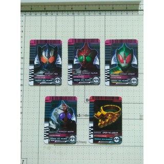 Card Kamen Rider Full set Amazon 5 thẻ: Neo, Alpha, Omega, Sigma, Gaga No Udewa