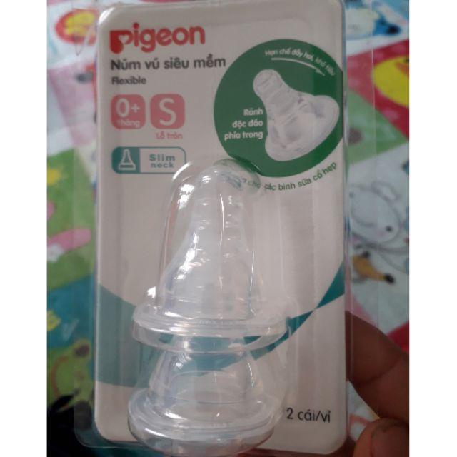 Núm ti siêu mềm Pigeon size S (vỉ 2cái)