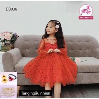 Váy bé gái✨Freeship✨Tặng cài nơ✨ Đầm công chúa bé gái cao cấp giá mềm 2020 new titikids
