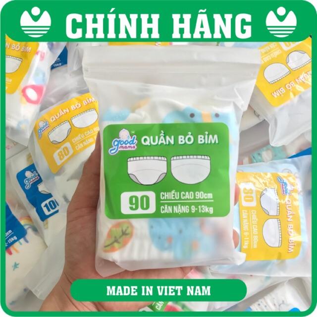 [Mã MKBCSALE2 hoàn 100K xu đơn 1 triệu 3] Quần bỏ bỉm 6 lớp Hàng Việt Nam cao cấp Goodmana dành cho Bé 6-15kg