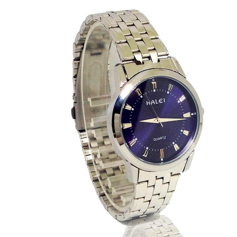 Đồng hồ nam HALEI 5012M dây thép không gỉ cao cấp +tặng vòng tay tỳ hưu may mắn phát tài