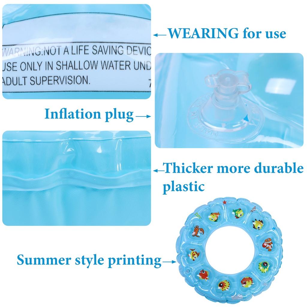 Bộ 2 Ống Bơm Hơi Hình Động Vật Biển Đáng Yêu Cho Bể Bơi