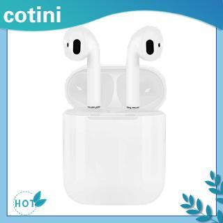 Tai nghe nhét tai i12 TWS mini không dây Bluetooth 5.0 điều khiển chạm kèm hộp sạc