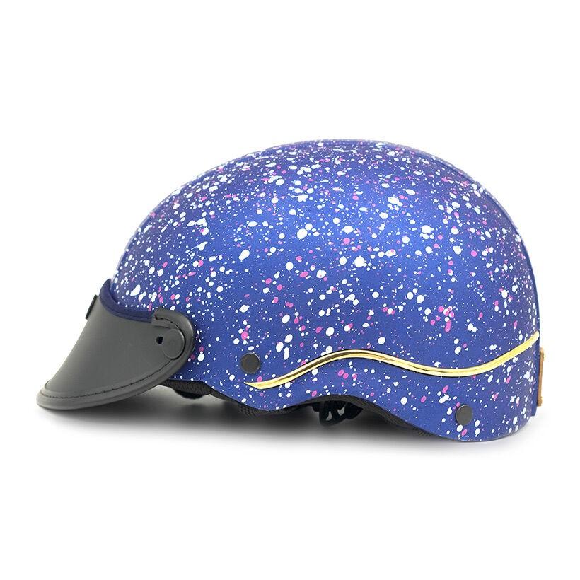 Mũ bảo hiểm nửa đầu Napoli X105 Freesize (Xanh dương)