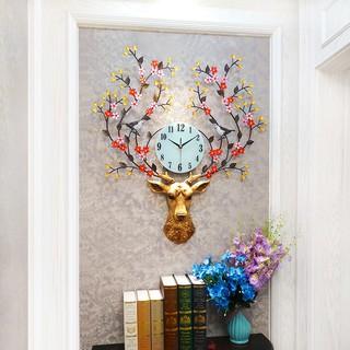 Đồng hồ treo tường đầu Hươu phong thủy, Đồng hồ treo tường nghệ thuật 3D, Phong cách Châu Âu