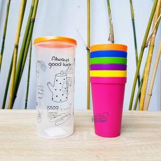 Bộ 6 ly nhựa màu Rainbow Lock&Lock thích hôp dùng cho bé hoặc dã ngoại HPP707 thumbnail