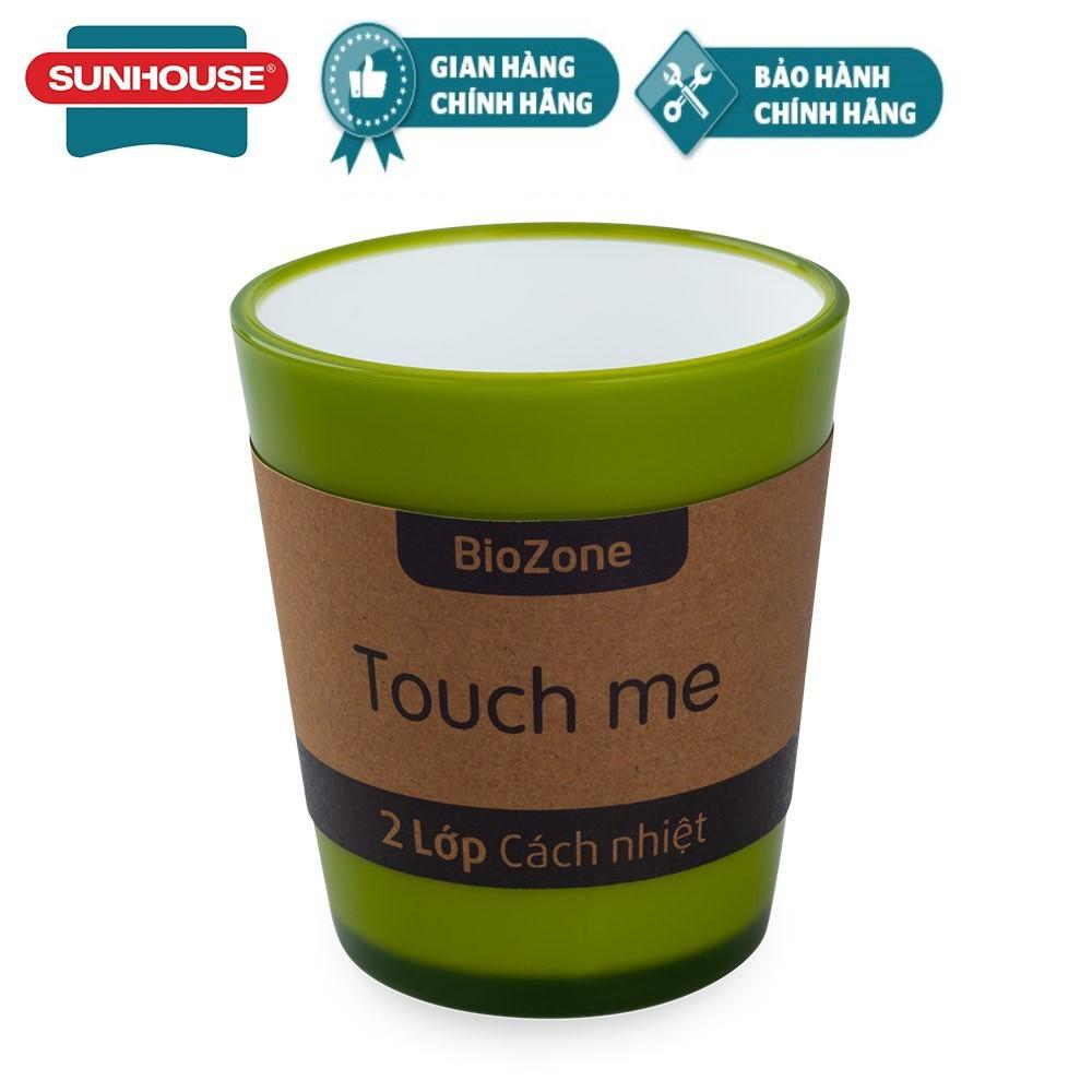 Cốc cách nhiệt 2 lớp BioZone Sunhouse 310ml KB-CU310PGT màu xanh trà