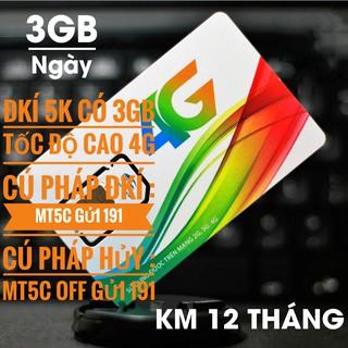 Sim viettel 4G chỉ 5k có 3GB 1 ngày