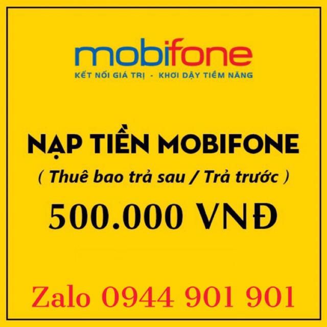 Thẻ MobiFone 500K