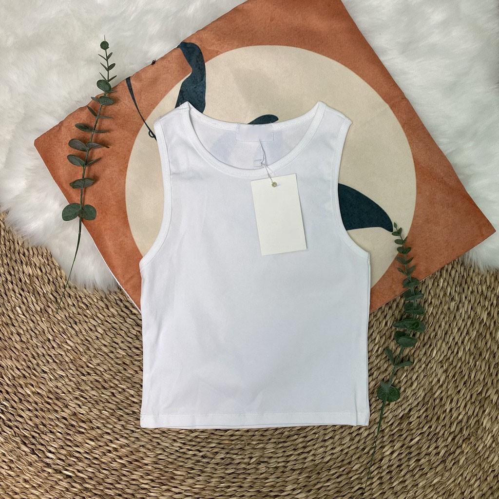 Mặc gì đẹp: Gợi cảm với Áo croptop nữ chất cotton - Áo ba lỗ cộc tay dáng ôm mềm mịn