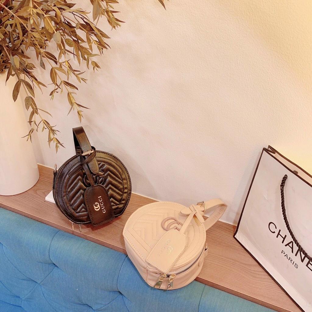 Túi tròn mini đeo chéo túi tròn sang trọng SATA mẫu mới nhất hàng đẹp TRONVSONG01 + hình thật