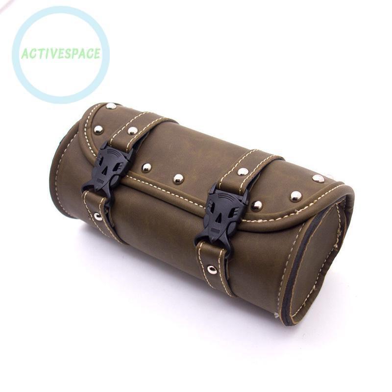 Túi da gắn tay cầm xe máy mang phong cách retro cỡ 21*10.3cm cho Harley