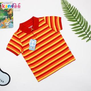 Áo polo ngắn tay bé trai KANDOO, thoải mái hoạt động, 100% cotton cao cấp mềm mịn, thoáng mát, an toàn cho bé-DBPS1714