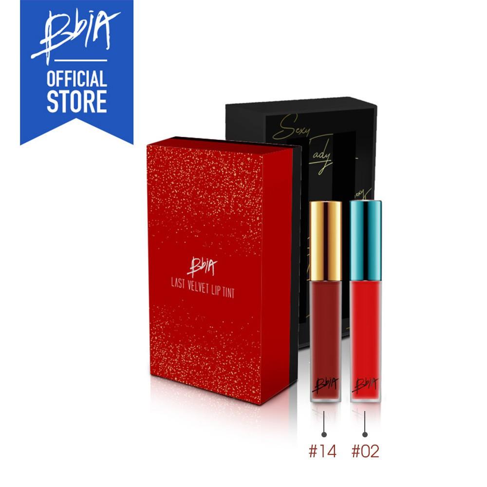 Set 2 Cây Son Kem Lì Bbia Last Velvet Lip Tint - Sexy Lady (2 Cây X 5g) Limited Edition