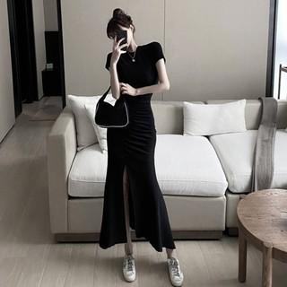 Chân Váy Dài Xẻ Tà Xinh Xắn Dành Cho Nữ 2020