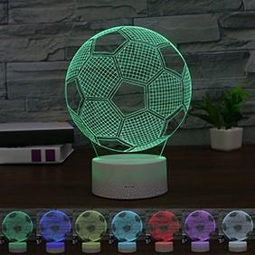 Đèn Ngủ 3D Tạo Hình Quả Bóng Đá Bóng Độc Đáo