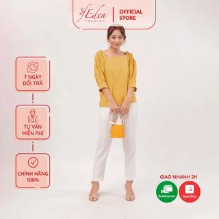 Áo kiểu áo công sở thời trang Eden tay lỡ xếp li - ASM071 thumbnail