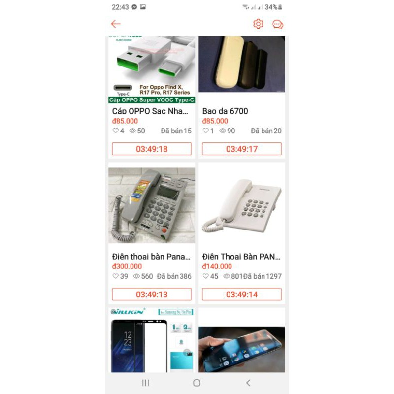 Điện thoại bàn Panasonic KX-TS500 Bao Hanh 12 Tháng