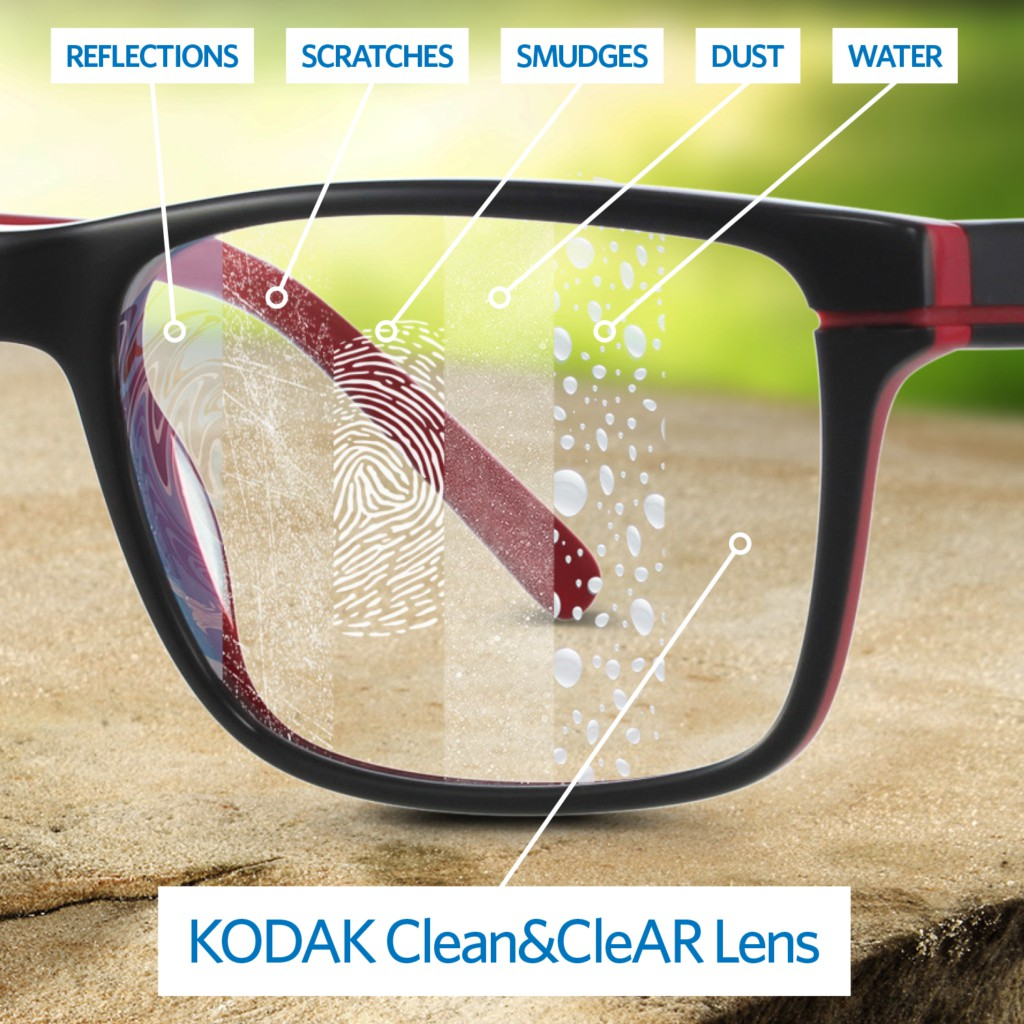 [Tặng khăn lau kính chính hãng + nước rửa kính]Tròng kính cận cao cấp 1.60 KoDAK FSV UV400 (USA), siêu...
