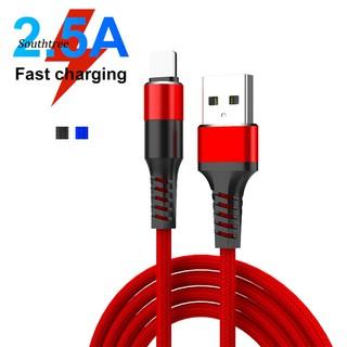 Cáp sạc sợi bện giao diện Micro USB/Type-C/cho iPhone dòng điện 3A