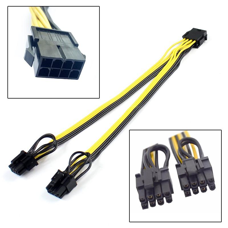 Cáp chia nguồn Card VGA 8Pin ra 2 x 8Pin (6+2)