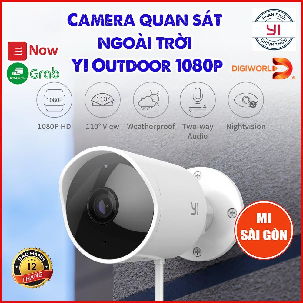 [ BẢN QUỐC TẾ ] Camera IP giám sát ngoài trời YI Outdoor 1080p - Mã H30 -Digiworld phân phối ; bảo hành 12 tháng
