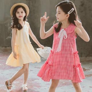 Đầm kẻ sọc ca-rô xinh xắn dành cho bé gái