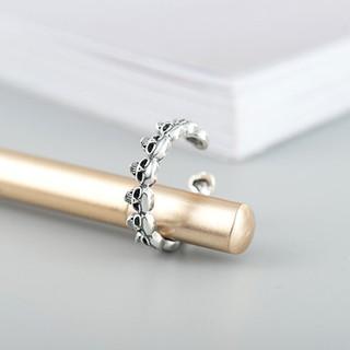 Hình ảnh Nhẫn Bạc Nữ S925 Thiết Kế Hình Đầu Lâu Độc Đáo Cá Tính N-1712 Bảo Ngọc Jewelry-4