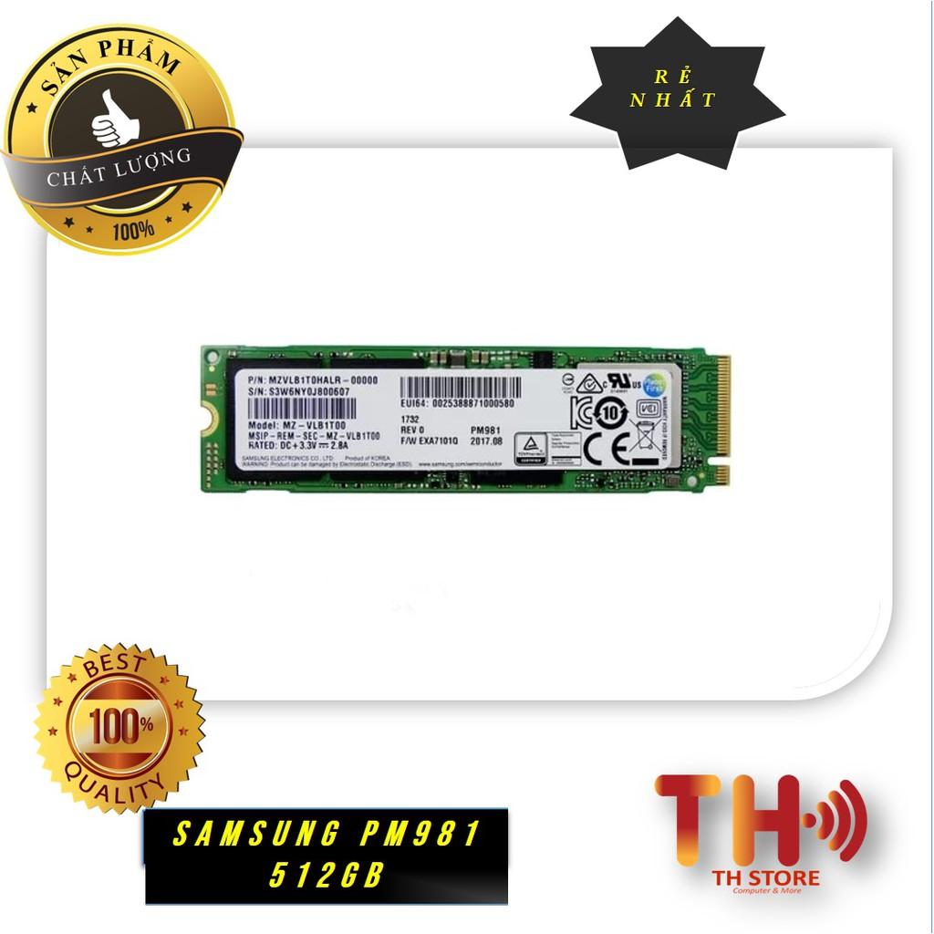 Ổ cứng SSD Samsung PM981 NVMe M2-2280 PCIe 512GB chính hãng 36T