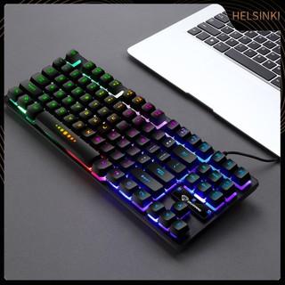 Bàn Phím Cơ Hel + Gk-10 Có Đèn Nền 87 Phím Cho Laptop / Pc