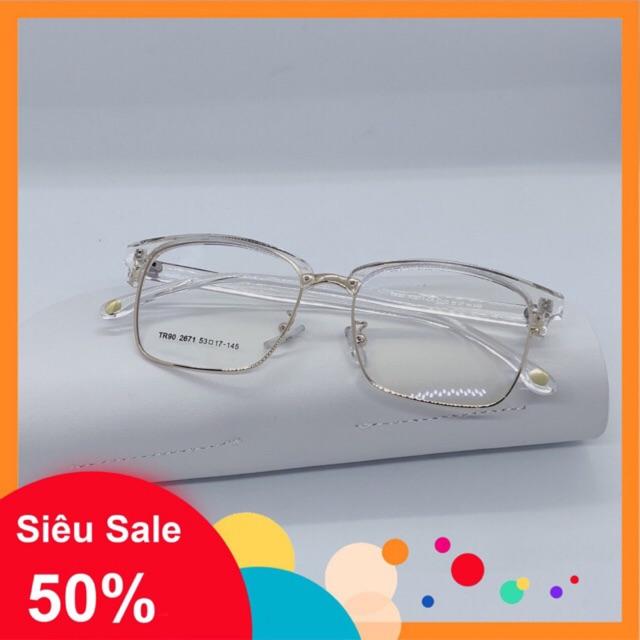 💝💖 Gọng kính kim loại vuông thời trang nam nữ 2671 – Tiệm kính Shop 💝💖