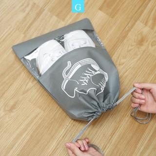 Túi đựng giày dép du lịch không thấm nước có dây rút loại to tiện dụng GYGA thumbnail