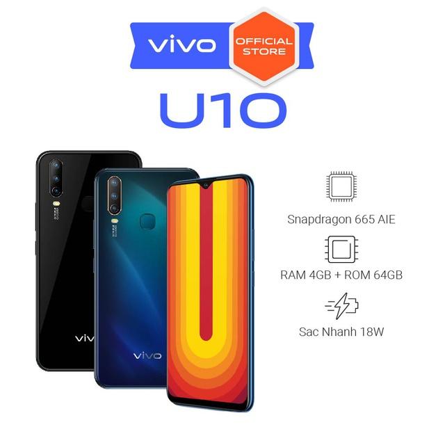 Điện thoại Vivo U10 4Gb + 64Gb - Hàng Chính