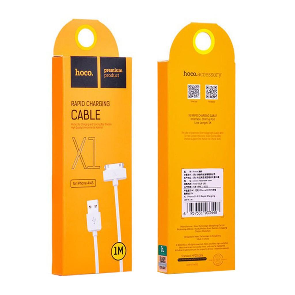 Cáp sạc Iphone 3/4 ; Ipad 1/2 HOCO - X1 - 3478489 , 1233167686 , 322_1233167686 , 30000 , Cap-sac-Iphone-3-4-Ipad-1-2-HOCO-X1-322_1233167686 , shopee.vn , Cáp sạc Iphone 3/4 ; Ipad 1/2 HOCO - X1