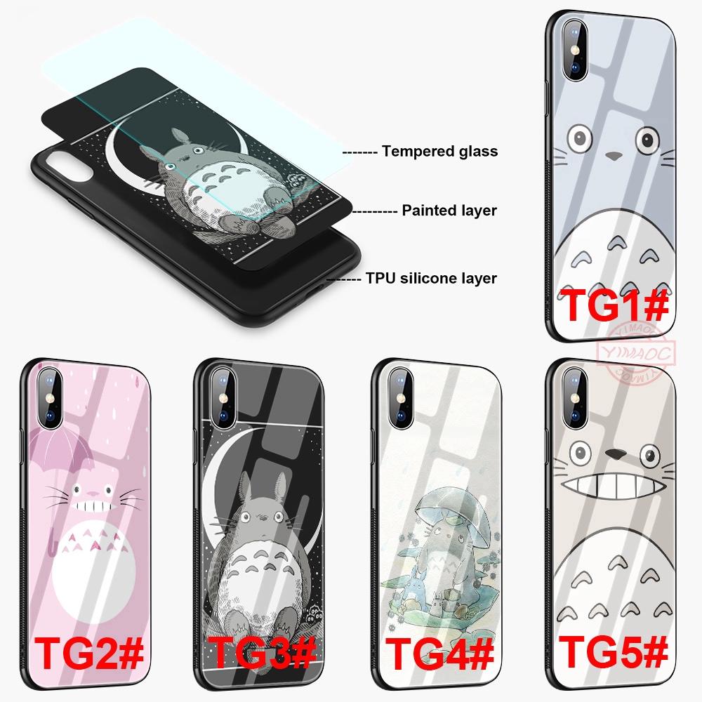 Ốp điện thoại mặt kính cường lực viền TPU in hình Totoro dễ thương cho iPhone 5 5S SE 6 6S 7 Plus 8 Plus XR X XS Max - 22770436 , 2376022174 , 322_2376022174 , 110000 , Op-dien-thoai-mat-kinh-cuong-luc-vien-TPU-in-hinh-Totoro-de-thuong-cho-iPhone-5-5S-SE-6-6S-7-Plus-8-Plus-XR-X-XS-Max-322_2376022174 , shopee.vn , Ốp điện thoại mặt kính cường lực viền TPU in hình Toto