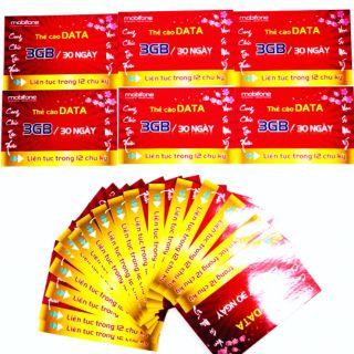 Thẻ data Mobifone 12 tháng- 3Gb/ tháng!