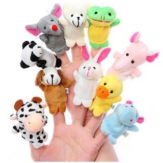 set 10 con vật rối ngón kể chuyện chủ đề động vật