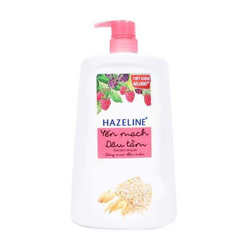 Sữa tắm dưỡng sáng da Hazeline yến mạch và dâu tằm 1.2kg