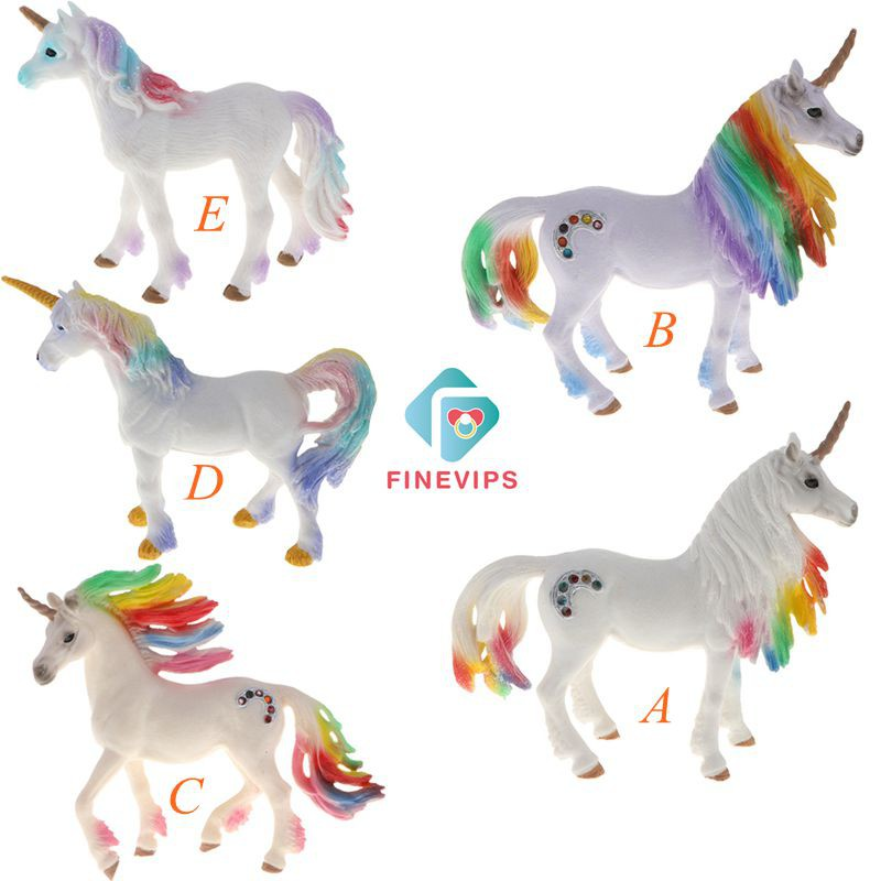 Ready Stock!!! Cute Fashion Simulation Animal Unicorn Model Figurine Home Decor