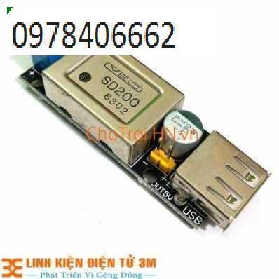 Module Buck DC-DC(IN +6~24VDC OUT 5V/3A USB) SẠC IPHONE ZIN Giá chỉ 239.000₫