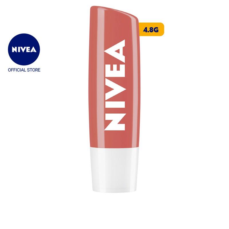 Son dưỡng môi NIVEA sắc cam hương đào Peach Shine (4.8g) -...
