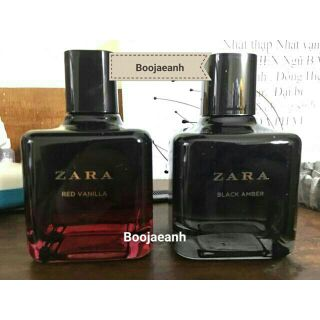 Set 2 chai nước hoa zara Red Vanilla + Black Amber 100ml