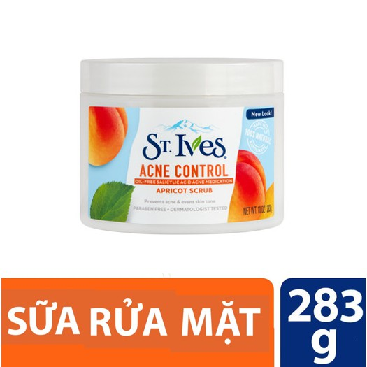 Hình ảnh Sữa rửa mặt tẩy tế bào chết ngăn ngừa mụn St.Ives trái mơ 283gr (dùng được cho body)-0