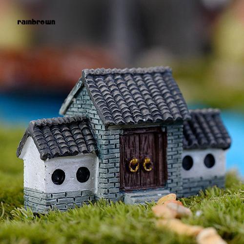 Ngôi nhà búp bê cổ tích thu nhỏ trang trí sân vườn