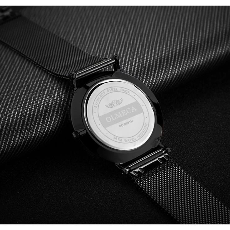 Đồng hồ Olmeca nam Japan 901 (full đen kim vàng)