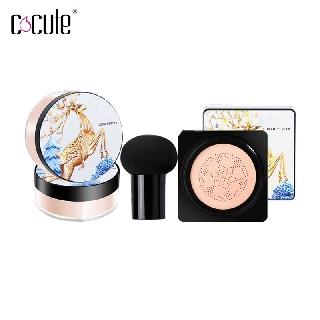 Bộ sản phẩm trang điểm kèm mút hình nấm thoáng khí tự nhiên hãng COCUTE thumbnail
