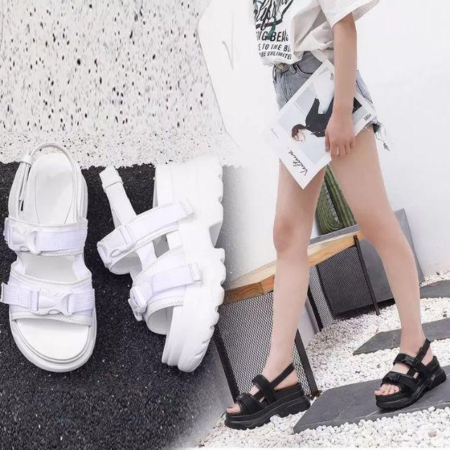 [Sẵn màu trắng size 35] Sandal ulzzang đế 8cm